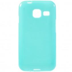 Kieto silikono (TPU) dėklas - šviesiai mėlynas (Galaxy J1 mini)