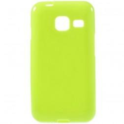 Kieto silikono (TPU) dėklas - žalias (Galaxy J1 mini)