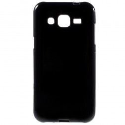 Kieto silikono (TPU) dėklas - juodas (Galaxy J2)