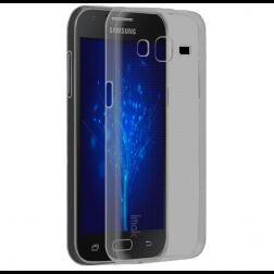 Ploniausias TPU skaidrus dėklas - pilkas (Galaxy J2)