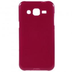 Kieto silikono (TPU) dėklas - raudonas (Galaxy J2)
