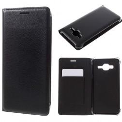 """""""Smart Wallet"""" atverčiamas dėklas - juodas (Galaxy J3 2016)"""