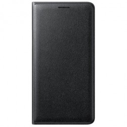 """""""Samsung"""" Flip Wallet Cover atverčiamas dėklas - juodas (Galaxy J3 2016)"""
