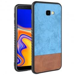 """Bi-Color"" Splicing dėklas - rudas / mėlynas (Galaxy J4+)"