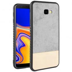 """""""Bi-Color"""" Splicing dėklas - pilkas / smėlio spalvos (Galaxy J4+)"""