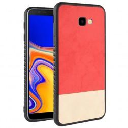 """""""Bi-Color"""" Splicing dėklas - raudonas / smėlio spalvos (Galaxy J4+)"""