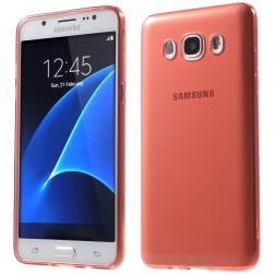 Ploniausias TPU skaidrus dėklas - raudonas (Galaxy J5 2016)