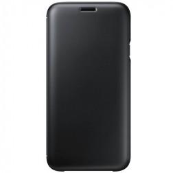 """""""Samsung"""" Wallet Cover atverčiamas dėklas - juodas (Galaxy J7 2017)"""