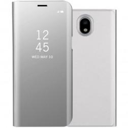 Plastikinis atverčiamas dėklas - sidabrinis (Galaxy J5 2017)