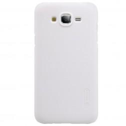 """""""Nillkin"""" Frosted Shield dėklas - baltas + apsauginė ekrano plėvelė (Galaxy J5)"""