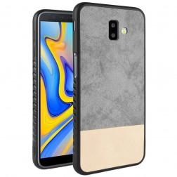 """""""Bi-Color"""" Splicing dėklas - smėlio spalvos / pilkas (Galaxy J6+ 2018)"""