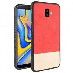 """""""Bi-Color"""" Splicing dėklas - smėlio spalvos / raudonas (Galaxy J6+ 2018)"""