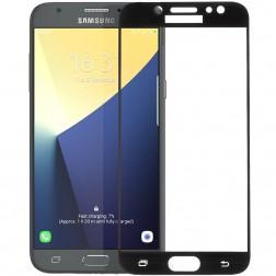 """""""Calans"""" Tempered Glass pilnai dengiantis apsauginis ekrano stiklas 0.2 mm - juodas (Galaxy J7 2017)"""