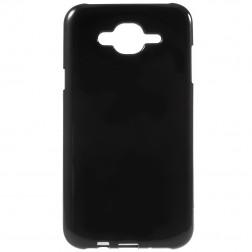 Kieto silikono (TPU) dėklas - juodas (Galaxy J7 2015)