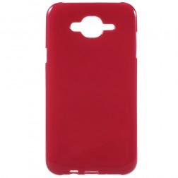 Kieto silikono (TPU) dėklas - raudonas (Galaxy J7 2015)