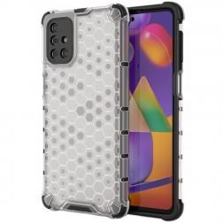 """""""Honeycomb"""" sustiprintos apsaugos dėklas - skaidrus (Galaxy M31s)"""