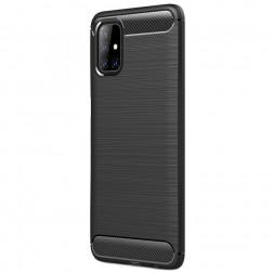 """""""Carbon"""" kieto silikono (TPU) dėklas - juodas (Galaxy M51)"""