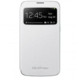 """""""Samsung"""" S View Cover atverčiamas dėklas - baltas (Galaxy Mega 6.3)"""