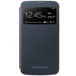 """""""Samsung"""" S View Cover atverčiamas dėklas - juodas (Galaxy Mega 6.3)"""