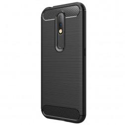 """""""Carbon"""" kieto silikono (TPU) dėklas - juodas (Nokia 4.2)"""