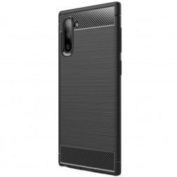 """""""Carbon"""" kieto silikono (TPU) dėklas - juodas (Galaxy Note 10)"""