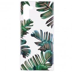 """""""Leaves"""" kieto silikono (TPU) dėklas - skaidrus (Galaxy Note 10)"""