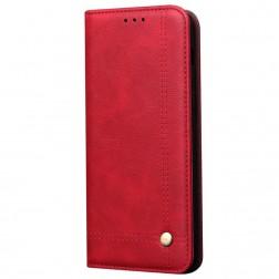 """""""Deluxe"""" atverčiamas dėklas - raudonas (Galaxy Note10 Lite)"""