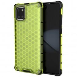 """""""Honeycomb"""" sustiprintos apsaugos dėklas - geltonas (Galaxy Note10 Lite)"""