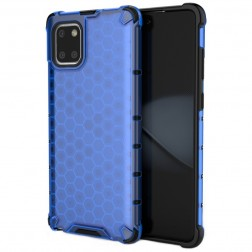 """Honeycomb"" sustiprintos apsaugos dėklas - mėlynas (Galaxy Note10 Lite)"