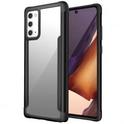 """""""FOCUS"""" dėklas - skaidrus / juodas (Galaxy Note 20)"""