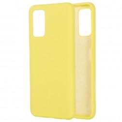 """""""Shell"""" kieto silikono (TPU) dėklas - geltonas (Galaxy Note 20)"""