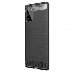 """""""Carbon"""" kieto silikono (TPU) dėklas - juodas (Galaxy Note 20)"""