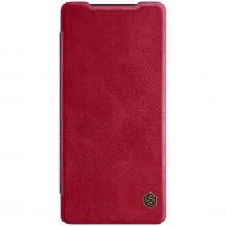 """""""Nillkin"""" Qin atverčiamas dėklas - raudonas (Galaxy Note 20)"""