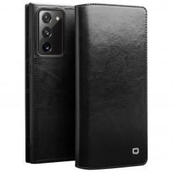 """""""QIALINO"""" atverčiamas dėklas - juodas (Galaxy Note 20)"""