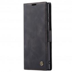 """""""CaseMe"""" Retro solidus atverčiamas dėklas - juodas (Galaxy Note 20 Ultra)"""