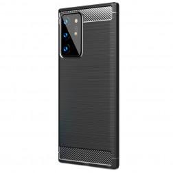 """""""Carbon"""" kieto silikono (TPU) dėklas - juodas (Galaxy Note 20 Ultra)"""