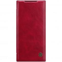 """""""Nillkin"""" Qin atverčiamas dėklas - raudonas (Galaxy Note 20 Ultra)"""