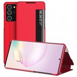 """""""View Line"""" atverčiamas dėklas - raudonas (Galaxy Note 20 Ultra)"""