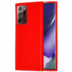 """""""Shell"""" kieto silikono (TPU) dėklas - raudonas (Galaxy Note 20 Ultra)"""