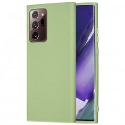 """""""Shell"""" kieto silikono (TPU) dėklas - žalias (Galaxy Note 20 Ultra)"""
