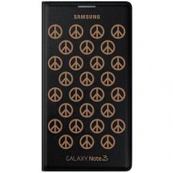 """""""Samsung"""" Moschino Flip Wallet atverčiamas dėklas - juodas (Galaxy Note 3)"""