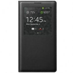 """""""Smart Window"""" atverčiamas odinis dėklas - juodas (Galaxy Note 3)"""