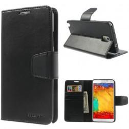 """""""Mercury"""" Sonata atverčiamas dėklas - juodas (Galaxy Note 3)"""