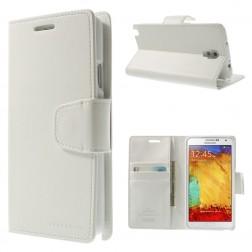 """""""Mercury"""" Sonata atverčiamas dėklas - baltas (Galaxy Note 3 Neo)"""