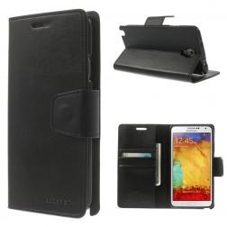 """""""Mercury"""" Sonata atverčiamas dėklas - juodas (Galaxy Note 3 Neo)"""