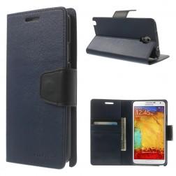 """""""Mercury"""" Sonata atverčiamas dėklas - mėlynas (Galaxy Note 3 Neo)"""