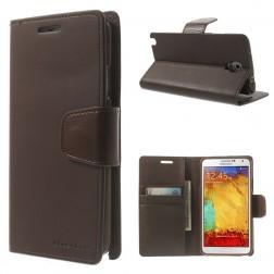 """""""Mercury"""" Sonata atverčiamas dėklas - rudas (Galaxy Note 3 Neo)"""