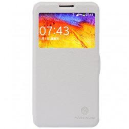"""""""Nillkin"""" Fresh atverčiamas dėklas - baltas (Galaxy Note 3 Neo)"""