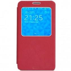 """""""Nillkin"""" Leather atverčiamas dėklas - raudonas (Galaxy Note 3)"""