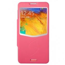 """""""Baseus"""" Folio Ultrathin atverčiamas dėklas - rožinis (Galaxy Note 3)"""